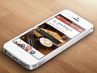 New home feed concept for FoodShootr app