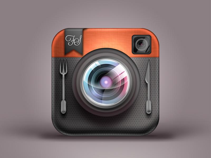 FoodShootr New App Icon icon ios iphone camera lens food foodshootr app
