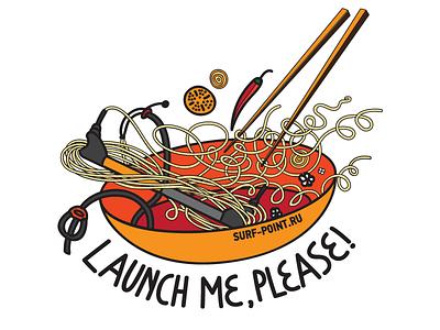 kitesurf noodle sticker noodle kitesurf vector
