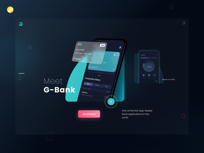 G-bank landing page landing page design website design download page mobile banking app mobile banking financial app finance landing page page design landing ui  ux design ux ui design