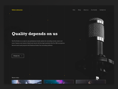 Yellow Submarine ui  ux design website web web-design ux ui type figma design branding awards