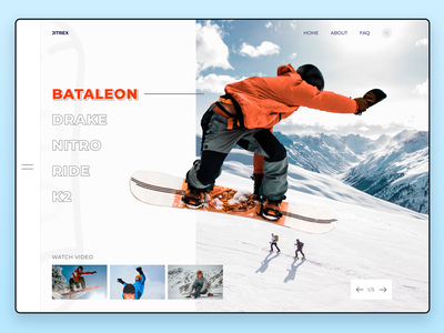 Jetrix snowboard shop vector typography snowboarding winter snowboard board snow lettering website web-design web ux ui ui  ux design type figma design branding awards