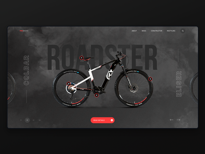 Probike design dailui trending smoke bicycle shop bicycle bike catalog shop website typography lettering web-design web ux ui  ux design ui type figma design awards