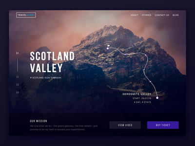 Travel Story awwwards mountain traveling travel desktop ux ui