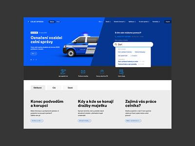 Customs Administration Website Concept web website digital flat ux ui corporate identity identity typography branding design