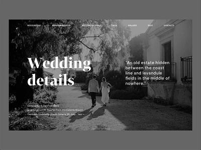 Olivia & Mark Wedding Website digital serif luxury flat black and white website minimal minimalism type typography design wedding invite wedding