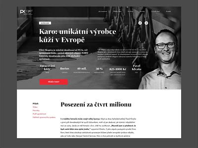Prague Stock Exchange – Start Market Website serif black  white black user experience ui ux flat type minimalism identity typography design