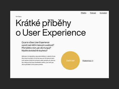 Short UX Stories Website web ux flat minimal type minimalism identity branding typography design