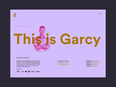 This is Garcy Website contact page