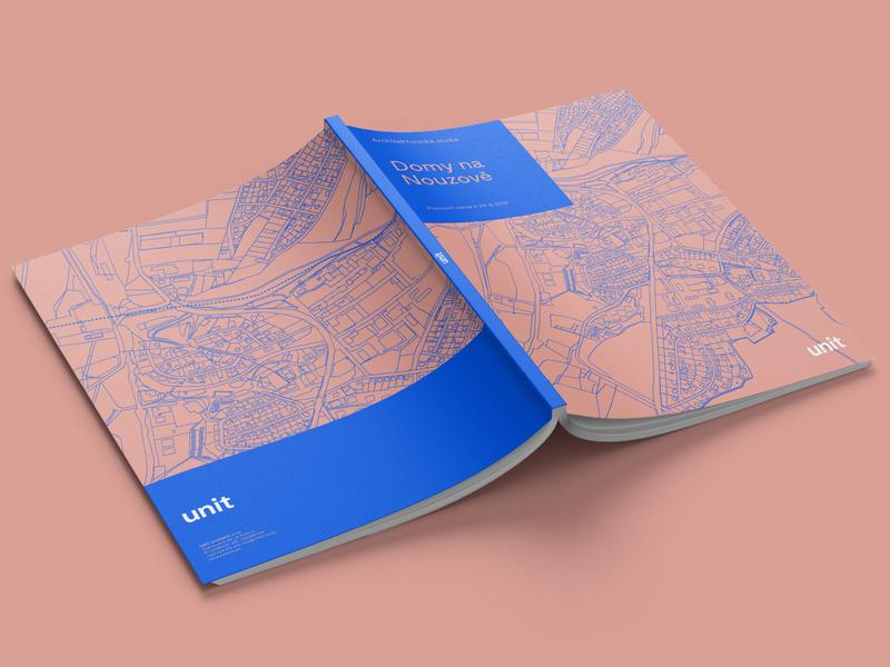 Urban Study Brochure minimalism cover artwork cover design layout ik blue illustration type brochure print identity corporate identity typography branding design