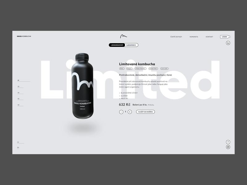 Magu Kombucha Branding & Product Website package design vector flat animation website layout webdesign web ui ux digital type logo minimal minimalism identity corporate identity typography branding design