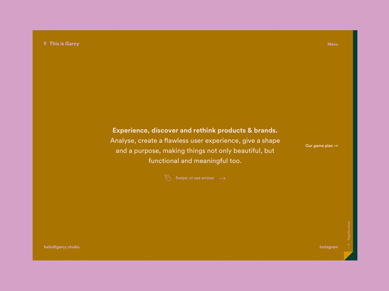 This is Garcy Website – Homepage contrast brown animation website layout webdesign web ui ux flat digital logo minimal type minimalism identity corporate identity typography branding design