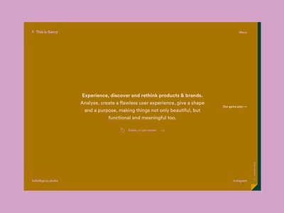 This is Garcy Website – Homepage