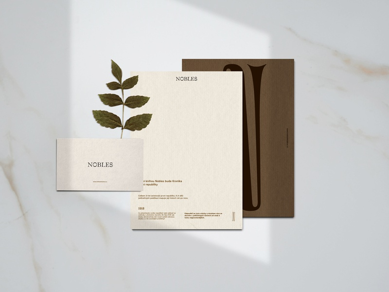 Nobles Branding illustration book art corporate branding brown mockup clean print luxury brand serif font vector logo minimal type minimalism identity corporate identity typography branding design