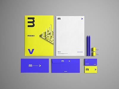 Move App Branding flat logo minimal minimalism type identity corporate identity typography branding design