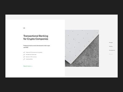 Swiss Crypto Bank Website web ui ux digital flat minimal minimalism type typography design