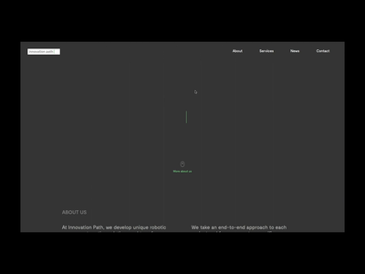 Innovation Path Website web ux ui digital flat minimalism identity corporate identity branding design
