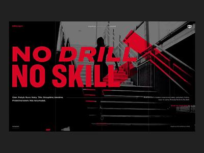 Drill Girl Website flat web vector ux ui illustration type typography branding design