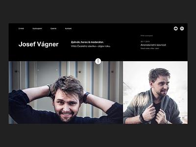 Josef Vagner Website identity ui black  white black flat minimal minimalism type typography branding design