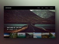 Photography blog concept