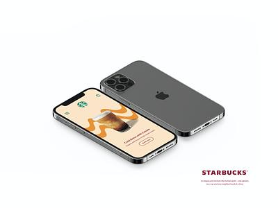 Starbucks Mobile App - Autumn Concept #2 wave orange application iphone mobile ui mobile app coffee starbucks concept fall autumn