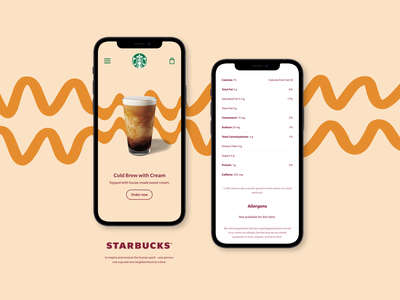 Starbucks Mobile App - Autumn Concept #2 wave orange application iphone mobile ui mobile app coffee starbucks concept fall autumn