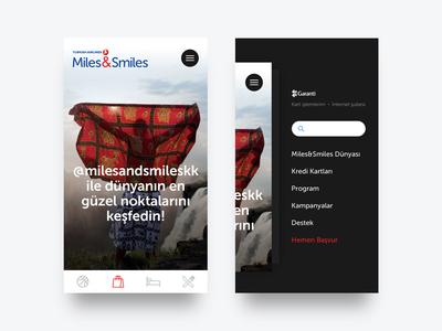 Miles&Smiles Mobile UI