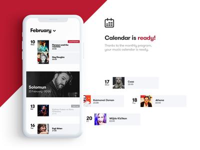 Ticket App / Calendar