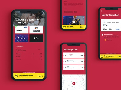 Ticket App checkout