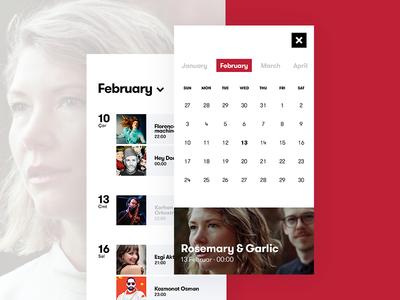 Ticket App / Calendar 2
