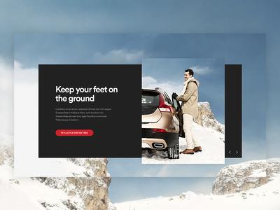 Tire company website concept