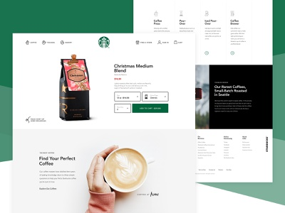 Starbucks Redesign product redesign ui detail interface design web starbucks coffee commerce shop
