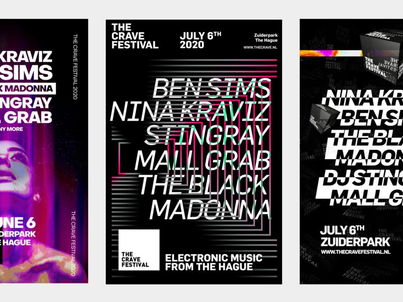 The Crave Festival 2020   Art Direction festival poster festival branding poster art direction art