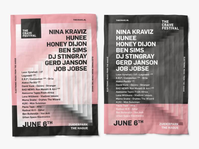 The Crave Festival 2020   Final Artwork art typography typo festival poster poster design festival