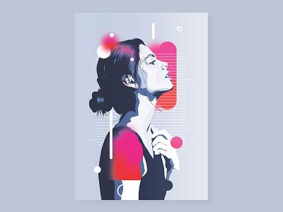 Horizon | digital portrait art digital portrait digital art portrait illustration gradient design poster