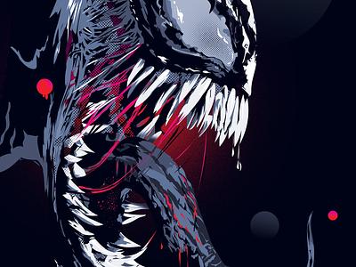 Venom vector illustration illustration art illustration digital spiderman venom ilustrator vector poster illustration design illustration
