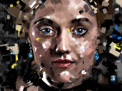 Sarah digital art digitalart portraits fine art fineart contemporary procreate portrait illustration abstract portrait art portrait