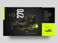 Nike Air Max 270 concept -- black version