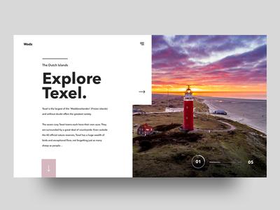 Explore Texel   Concept concept uiux userinterfase website web design ui ux