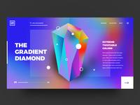 The Gradient Diamond // Concept UI