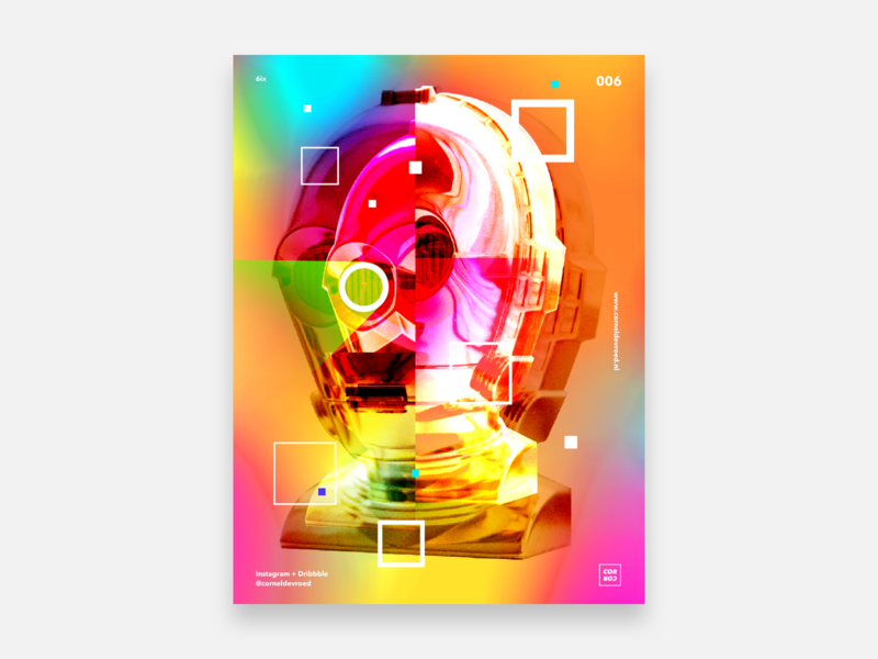 6ix   3CPO designeveryday starwars 3cpo abstractart art abstract experiment gradient posterdesign poster sketch