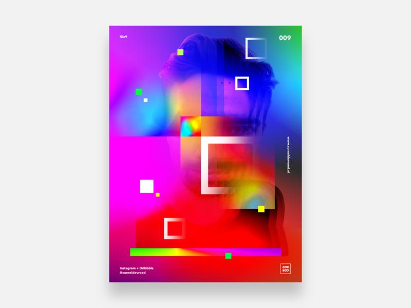 Nin9 abstract corneldevroed gradients gradient colors color posterdesign experiment poster sketch