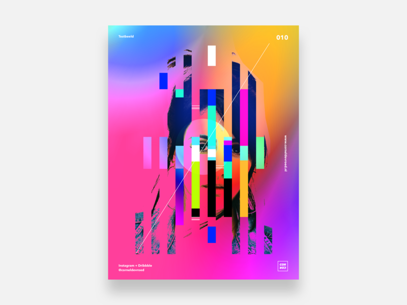 10   Testbeeld concept experiment posterdesign posters colors gradient color abstract poster sketch
