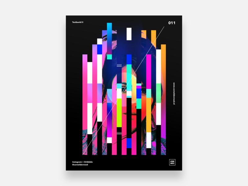 011 - Testbeeld II - Black edition colorful black gradients gradient vector illustration posterdesign poster