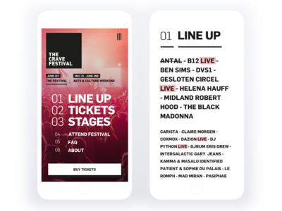 The Crave Festival - Mobile