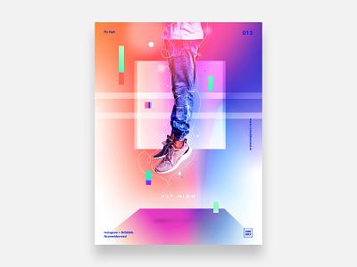 013 - Fly High high sky gradient sky high skyhigh abstract posterdesign poster sketch