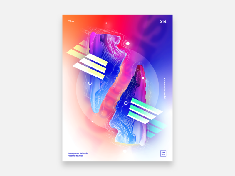 014 - Wings mint posterdesigns posterdesign poster wings adidas color gradient sketch