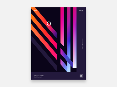 015 - N50% vector illustration abstract concept design gradient poster