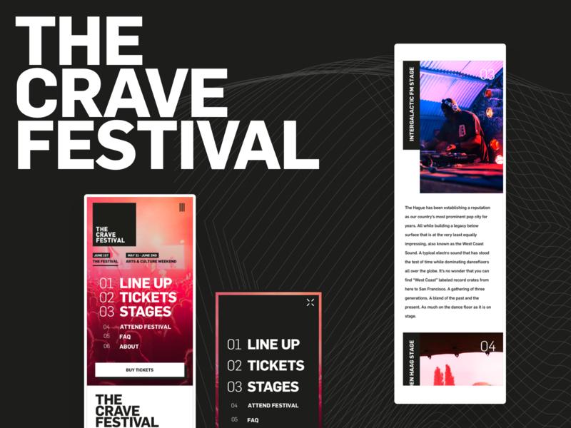The Crave Festival   Behance web user interface design user interface desktop mobile behance project behance uiux ui