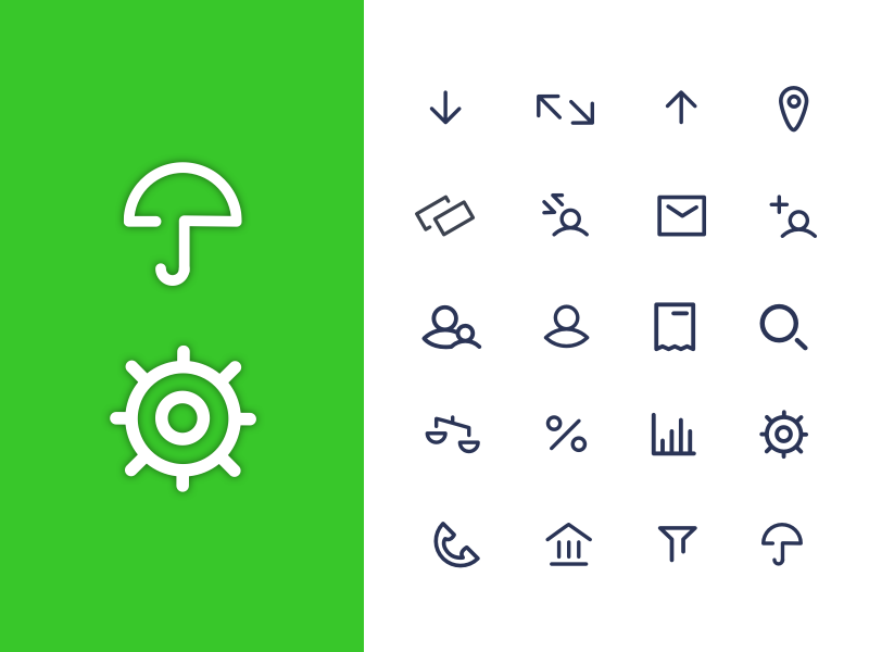 Iconography clean modern design ux ui interface illustrator mobile app sketch fintech icons